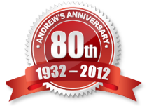 Andrews Celebrates 80 years in business in 2012